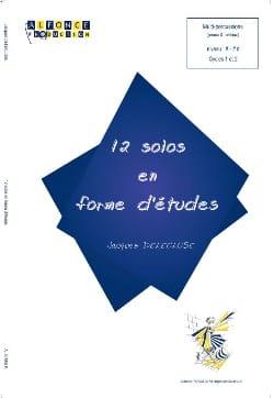 12 Solos En Forme D' Etudes Jacques Delécluse Partition laflutedepan