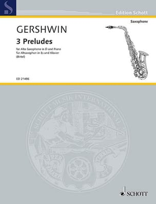 3 Preludes GERSHWIN Partition Saxophone - laflutedepan