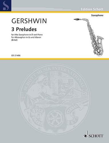 3 Preludes - GERSHWIN - Partition - Saxophone - laflutedepan.com