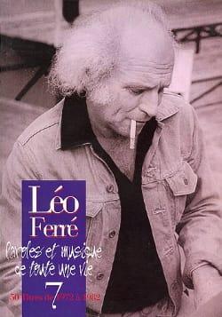 Paroles Et Musiques de Toute Une Vie Volume 7 1972-82 laflutedepan