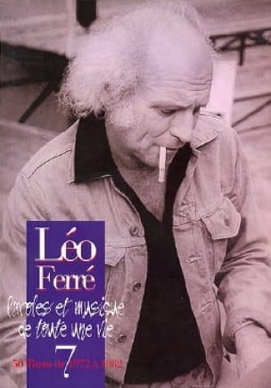 Paroles Et Musiques de Toute Une Vie Volume 7 1972-82 - laflutedepan.com