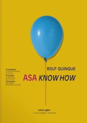 Asa Know How Rolf Quinque Partition Trompette - laflutedepan