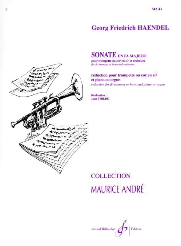 Sonate En Fa - HAENDEL - Partition - Trompette - laflutedepan.com