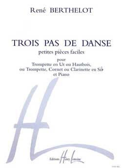 Trois Pas de Danse René Berthelot Partition Trompette - laflutedepan