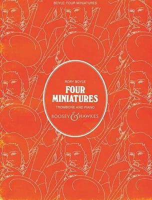 4 Miniatures Rory Boyle Partition Trombone - laflutedepan