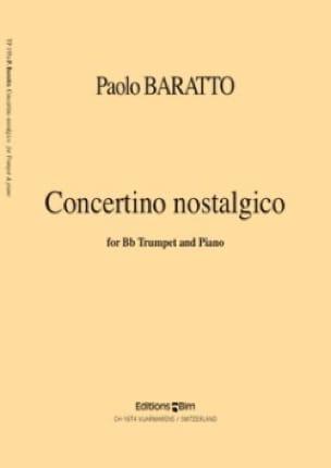 Concertino Nostalgico - Paolo Baratto - Partition - laflutedepan.com