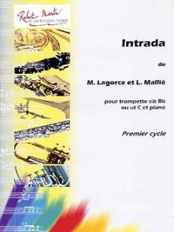 Intrada Lagorce Marcel / Mallié Loïc Partition laflutedepan