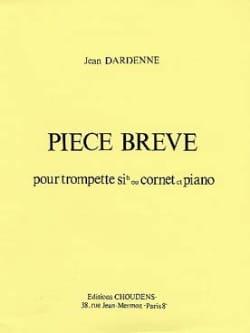 Pièce Brève Jean Dardenne Partition Trompette - laflutedepan