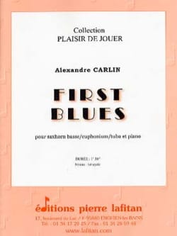 First blues Alexandre Carlin Partition Tuba - laflutedepan