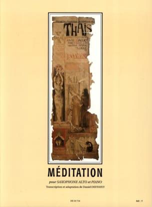 Thais, Méditation MASSENET Partition Saxophone - laflutedepan