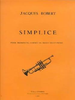 Simplice Jacques Robert Partition Trompette - laflutedepan