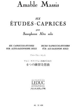 6 Etudes-Caprices Massis Partition Saxophone - laflutedepan