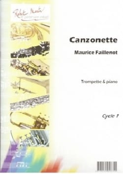 Canzonette Maurice Faillenot Partition Trompette - laflutedepan