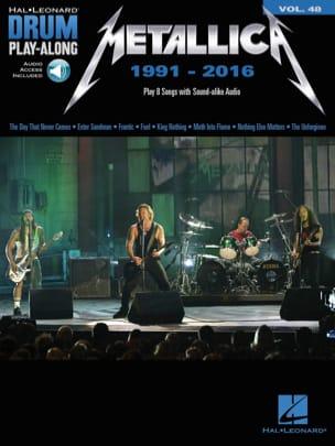 Metallica - Drum Play-Along Volume 48 - Metallica: 1991-2016 - Partition - di-arezzo.com