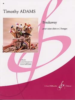 Breakaway Timothy Adams Partition Multi Percussions - laflutedepan