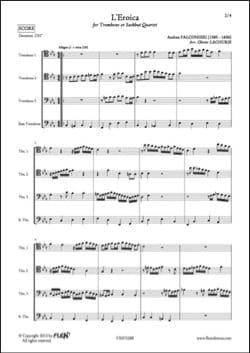L'Eroica - Andrea Falconieri - Partition - Trombone - laflutedepan.com