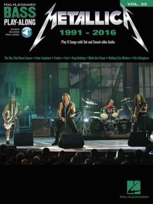 Bass Play-Along Volume 22 - Metallica: 1991-2016 laflutedepan