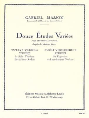 12 Etudes Variées Gabriel Masson Partition Trombone - laflutedepan