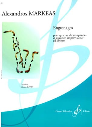Engrenages Alexandros Markeas Partition Saxophone - laflutedepan