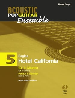 Hotel California - Acoustic pop guitar ensemble N°5 laflutedepan