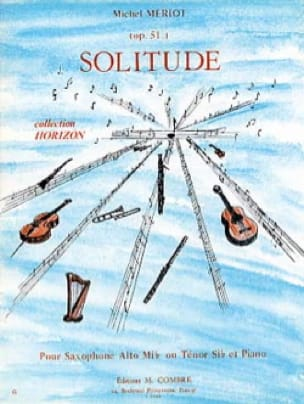 Solitude Opus 51 - Michel Mériot - Partition - laflutedepan.com