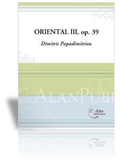 Oriental III - Opus 39 Dimitris Papadimitriou Partition laflutedepan
