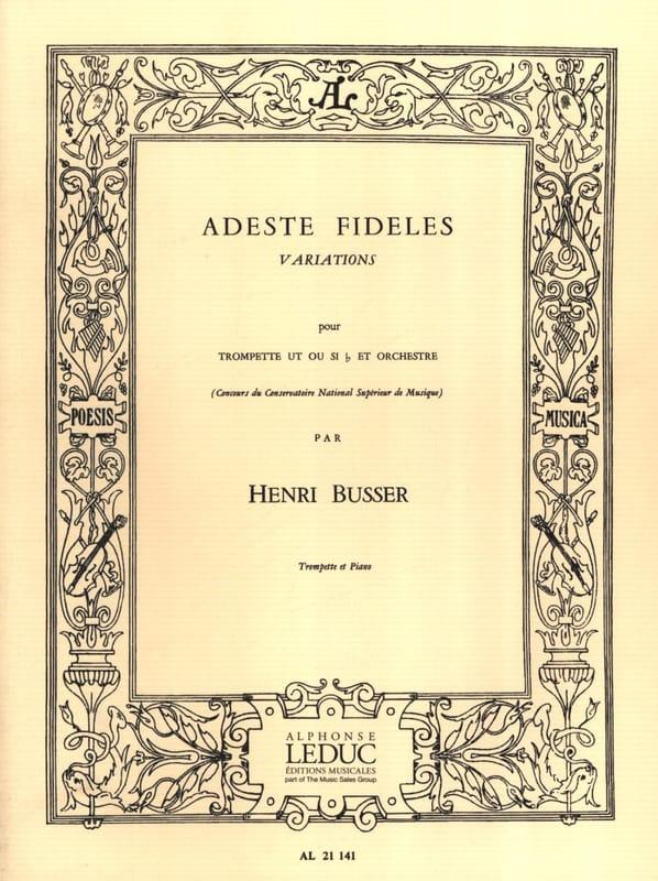 Adeste Fideles - Henri Busser - Partition - laflutedepan.com