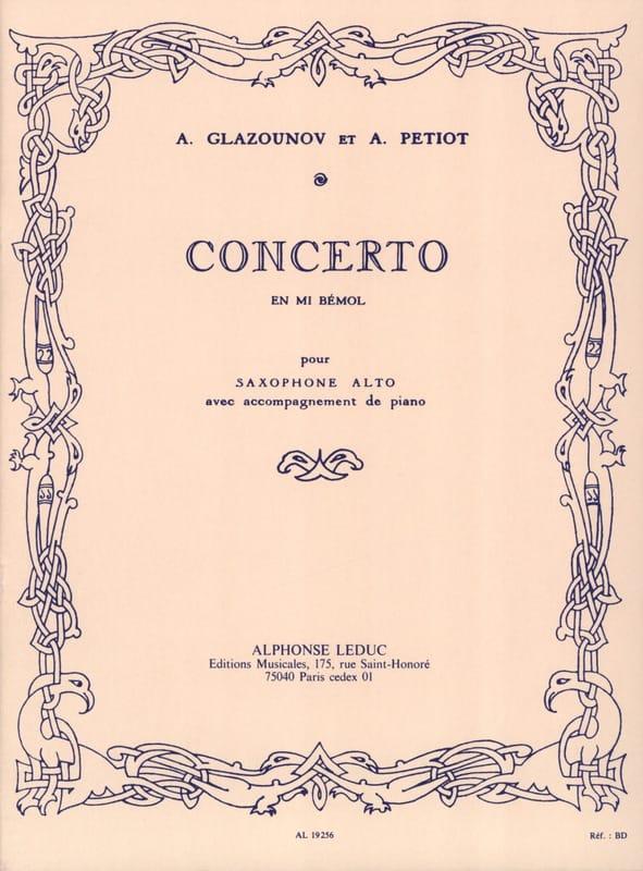 Concerto En Mi Bémol - GLAZOUNOV - Partition - laflutedepan.com