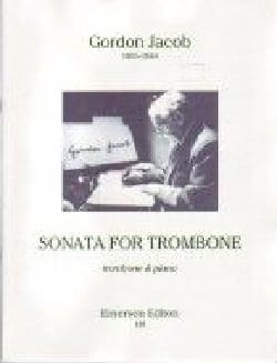Sonata For Trombone Gordon Jacob Partition Trombone - laflutedepan