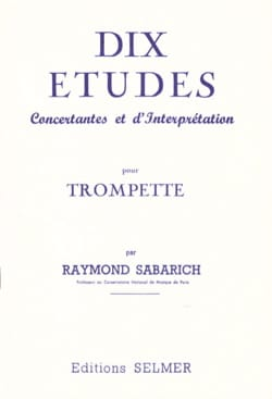 Dix Etudes - Raymond Sabarich - Partition - laflutedepan.com