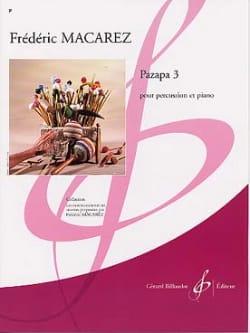 Pazapa 3 Frédéric Macarez Partition Multi Percussions - laflutedepan