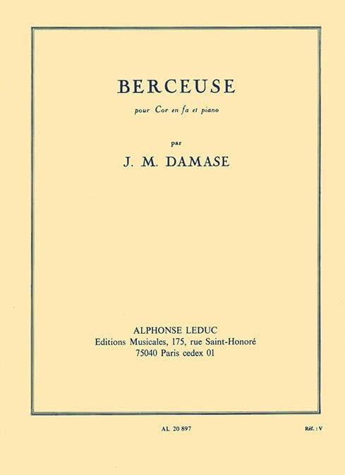 Berceuse - Jean-Michel Damase - Partition - Cor - laflutedepan.com