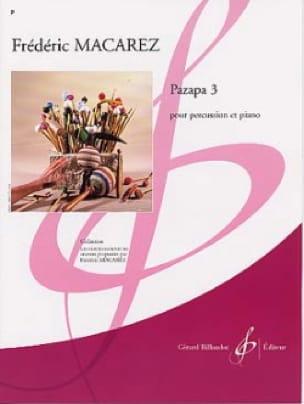 Pazapa 3 - Frédéric Macarez - Partition - laflutedepan.com