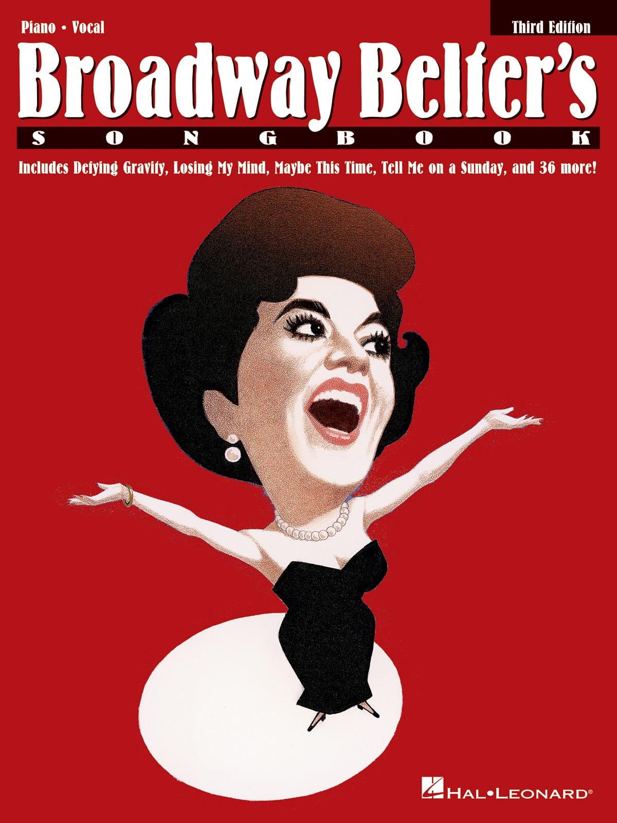 Broadway Belter's Songbook - 3ème édition - laflutedepan.com