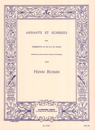 Andante Et Scherzo Opus 44 Henri Busser Partition laflutedepan