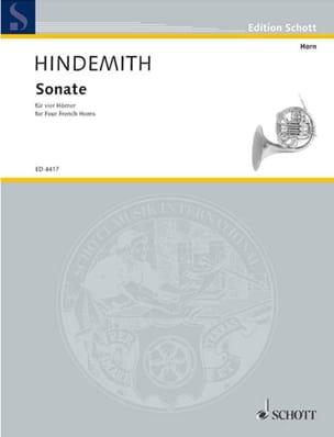 Sonate Partitur HINDEMITH Partition Cor - laflutedepan