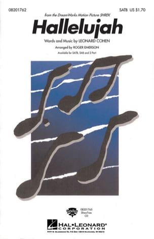 Leonard Cohen - Hallelujah - Partition - di-arezzo.co.uk