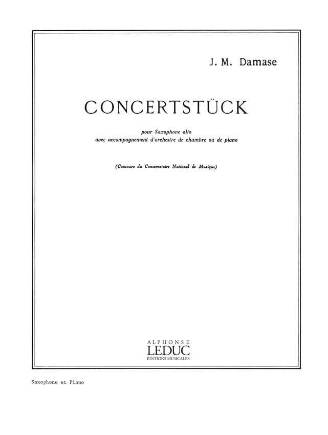 Concertstück - Jean-Michel Damase - Partition - laflutedepan.com