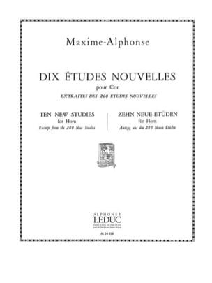 10 Etudes Nouvelles Maxime-Alphonse Partition Cor - laflutedepan