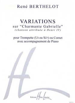 Variations Charmante Gabrielle René Berthelot Partition laflutedepan