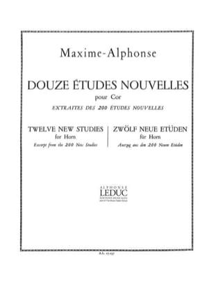 Maxime-Alphonse - 12 Studies News - Partition - di-arezzo.co.uk