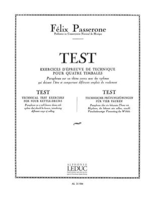 Test Passerone Partition Timbales - laflutedepan