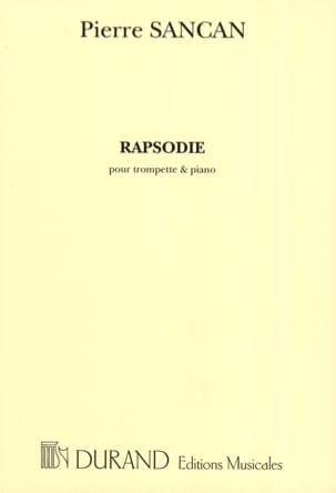 Rapsodie Pierre Sancan Partition Trompette - laflutedepan
