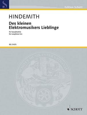 Des kleinen elektromusikers lieblinge HINDEMITH Partition laflutedepan