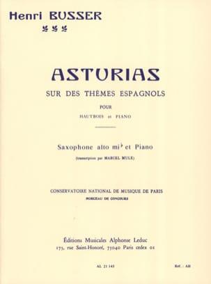 Asturias Henri Busser Partition Saxophone - laflutedepan