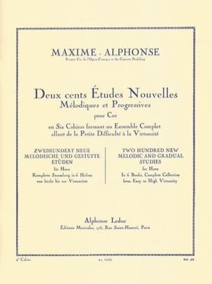 Maxime-Alphonse - 200 Studies News Volume 4 - Partition - di-arezzo.co.uk
