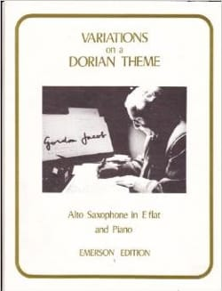 Variations On A Dorian Theme Gordon Jacob Partition laflutedepan