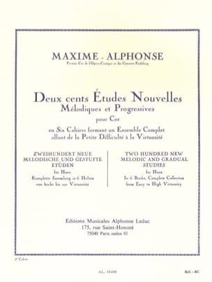 200 Etudes Nouvelles Volume 5 Maxime-Alphonse Partition laflutedepan