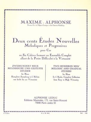 200 Etudes Nouvelles Volume 6 Maxime-Alphonse Partition laflutedepan