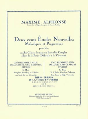 200 Etudes Nouvelles Volume 2 Maxime-Alphonse Partition laflutedepan